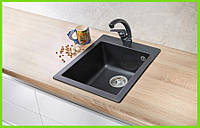 Кухонная гранитная мойка AQUA / кухонна гранітна мийка 500/420/200