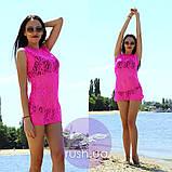 Женская пляжная туника гипюровая, фото 4