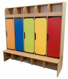 Шафа дитяча 5-місна з фігурними дверима (хромовані труби)
