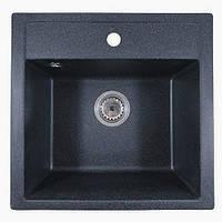 Кухонная гранитная мойка графит Formini / кухонна гранітна мийка 505/500/200