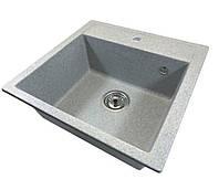 Кухонная гранитная мойка серая Formini / кухонна гранітна мийка 505/500/200