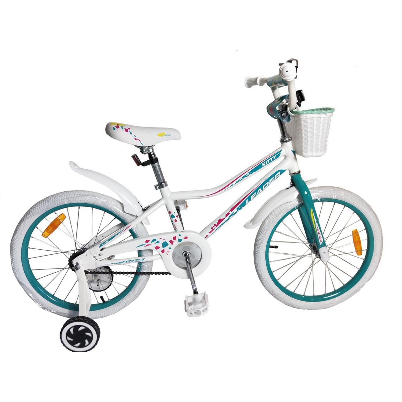 "Велосипед Leader Kitty 20"" белый"
