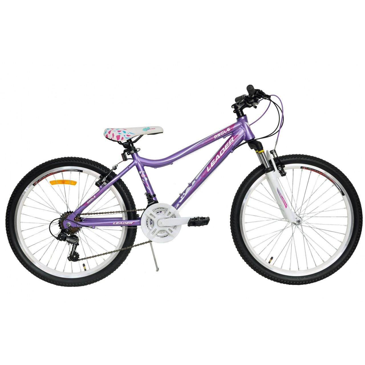"""Велосипед Leader Angel 24"""" фиолетовый"""