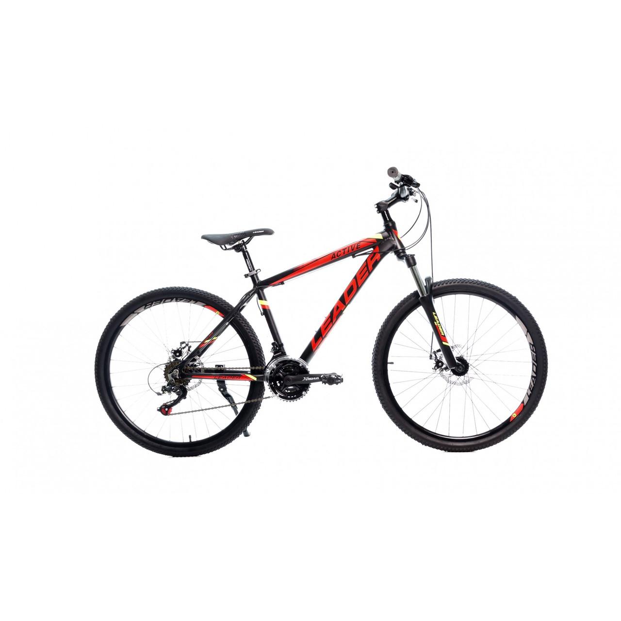 """Велосипед Leader Active 26"""" (Black/Green) 16,5"""" черно-красный"""