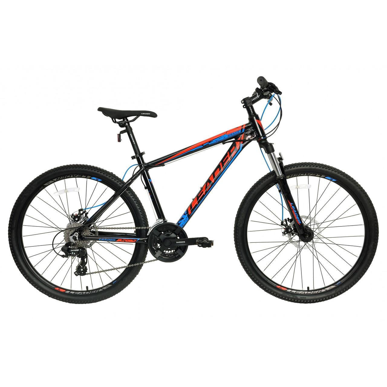 """Велосипед LEADER 26"""" BRAVE 16,5"""" черно-красный"""