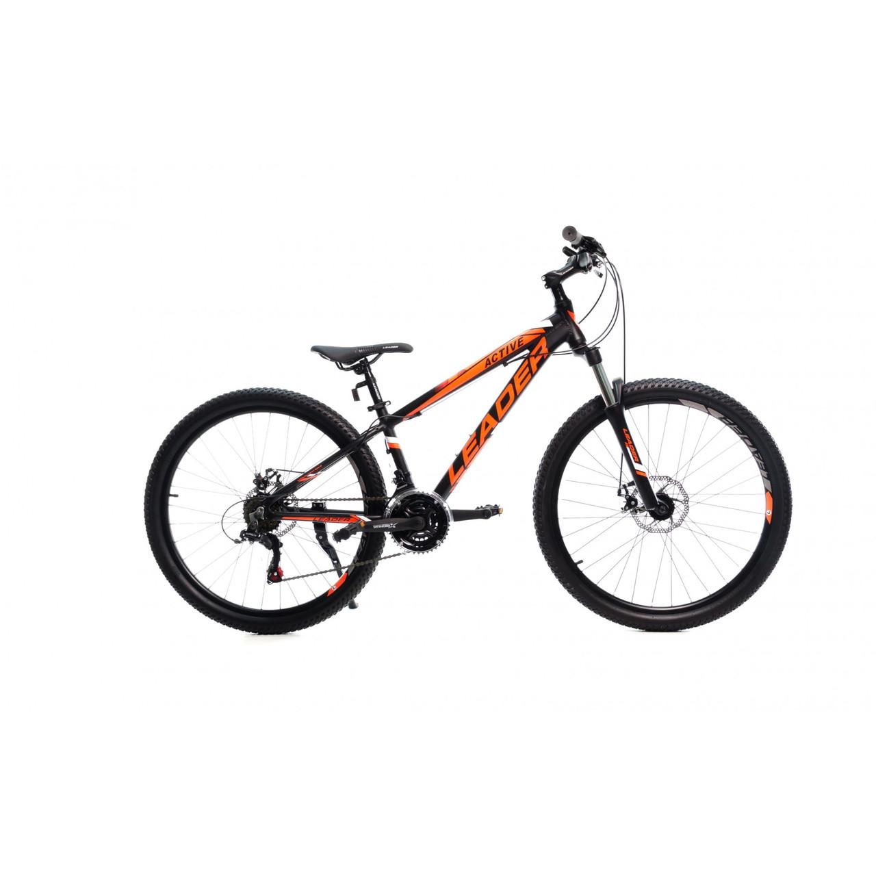 """Велосипед LEADER 26"""" ACTIVE 13"""" черно-оранжевый"""