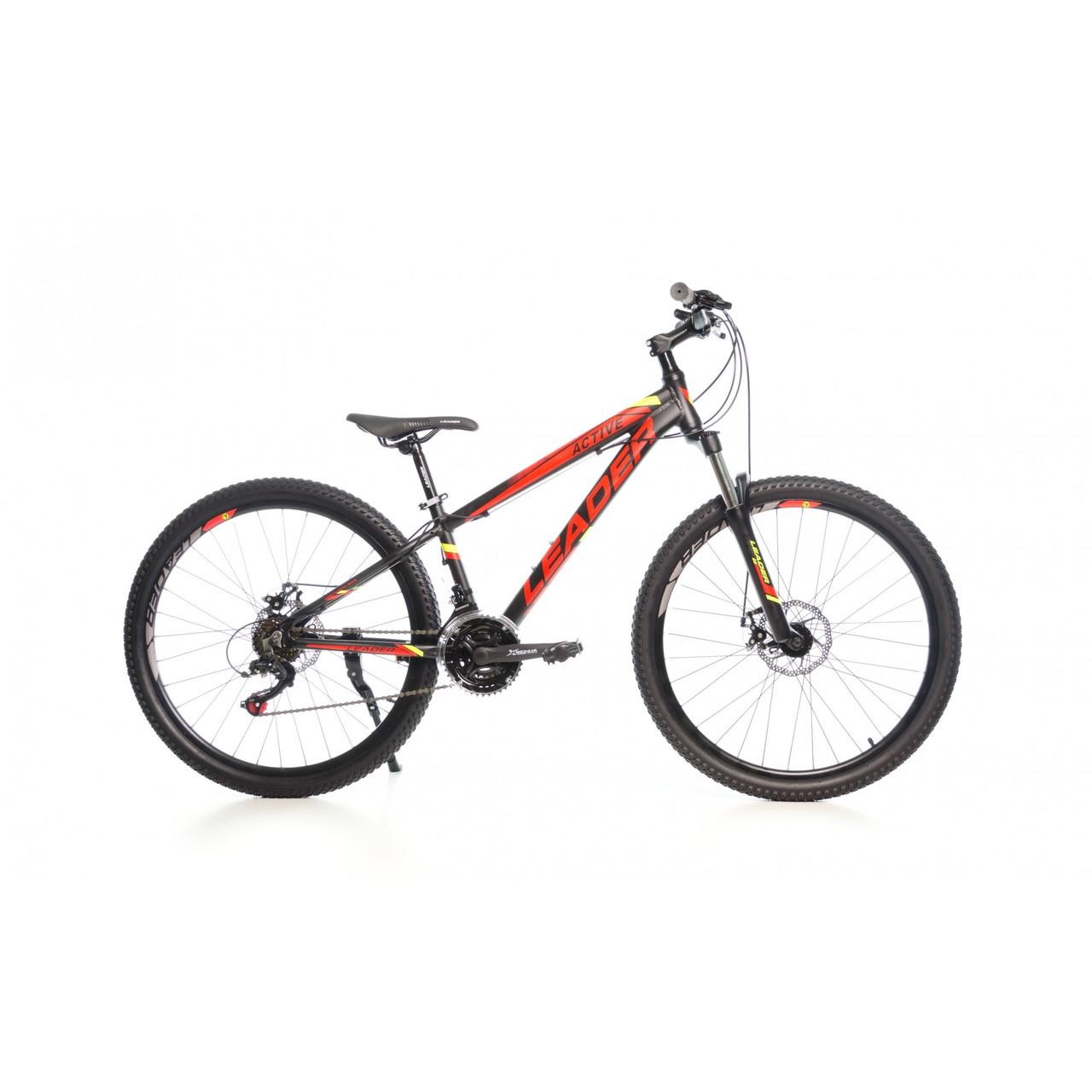 """Велосипед LEADER 26"""" ACTIVE 13"""" черно-красный"""