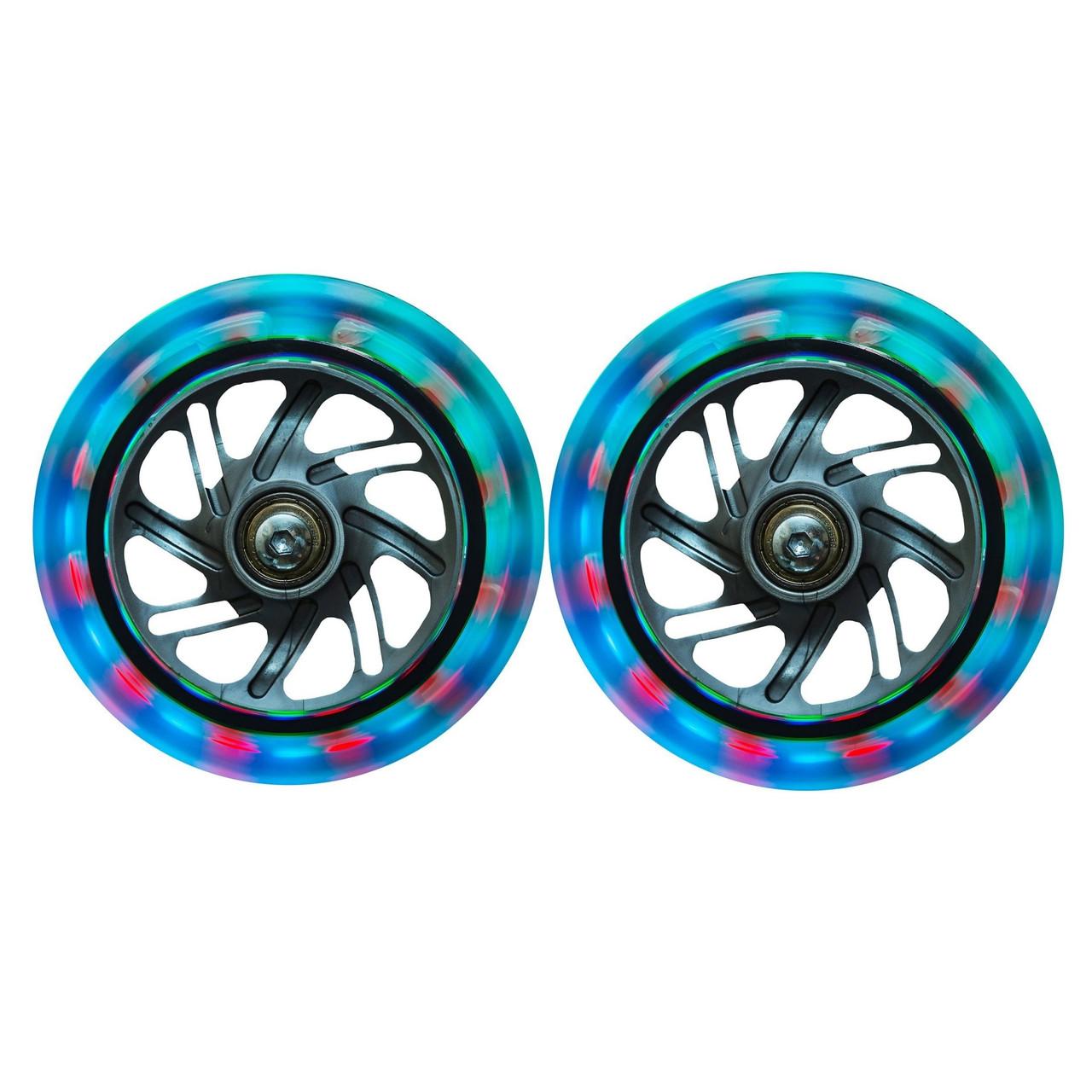 Светящиеся колеса Globber Lightning Front Wheel Set прозрачные