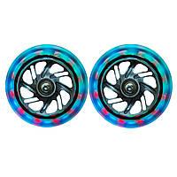 Светящиеся колеса Globber Lightning Front Wheel Set прозрачные, фото 1