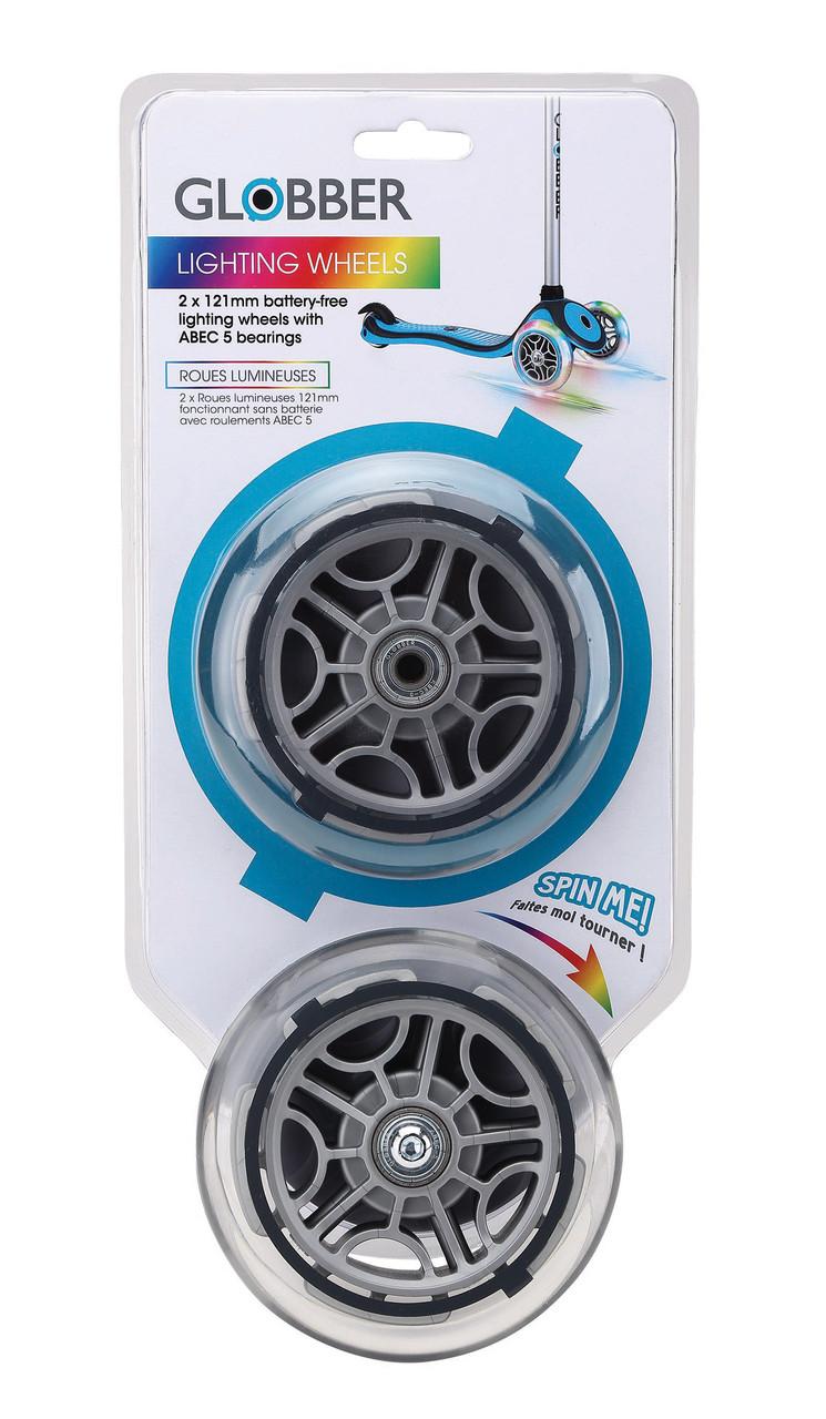 Колеса GLOBBER 120 мм ( совместимо с моделями GLOBBER: Elite, Primo Plus, Evo, Comfort, Flow) прозрачные