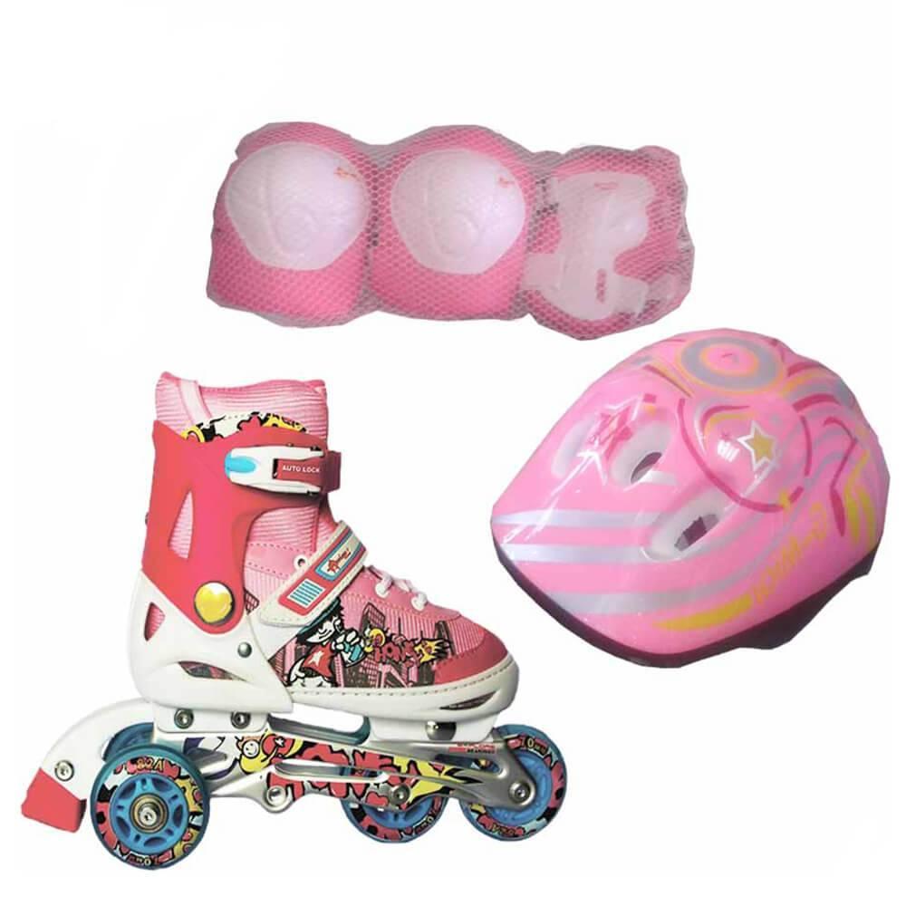 Детские ролики Amigo Sport Combo (28-31) розовый (с защитой)