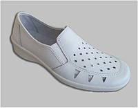 Туфли женские рабочие кожаные (легкие и удобные)