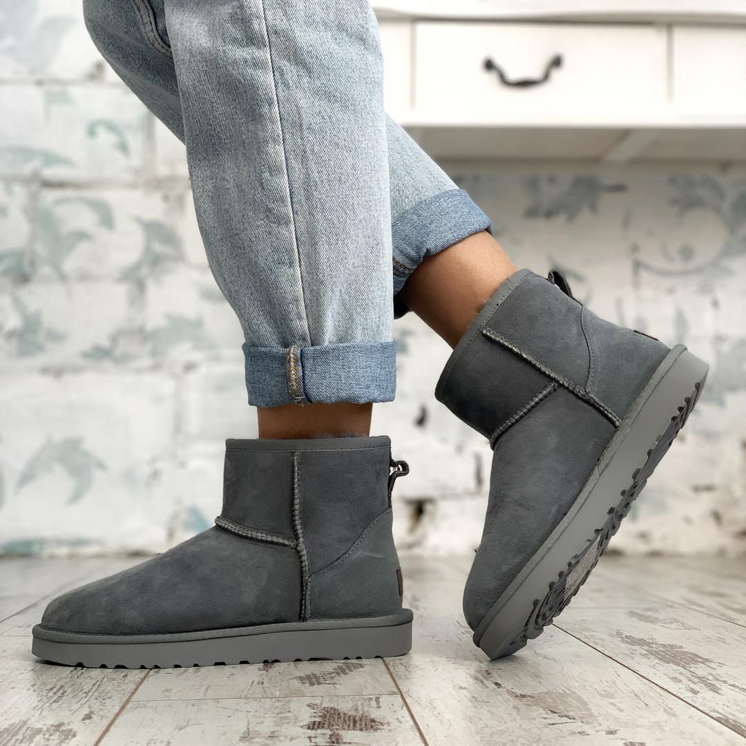 Угги женские UggiAustralia Classic Mini Boots серый