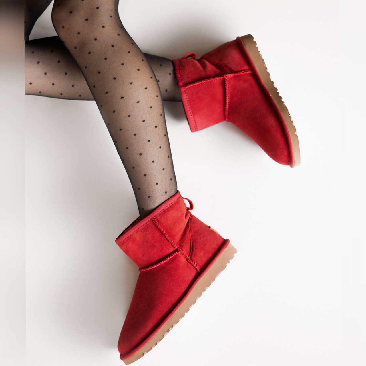 Угги женские UggiAustralia Classic Mini Boots Wine красный