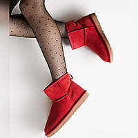 Угги женские UggiAustralia Classic Mini Boots Wine красный, фото 1