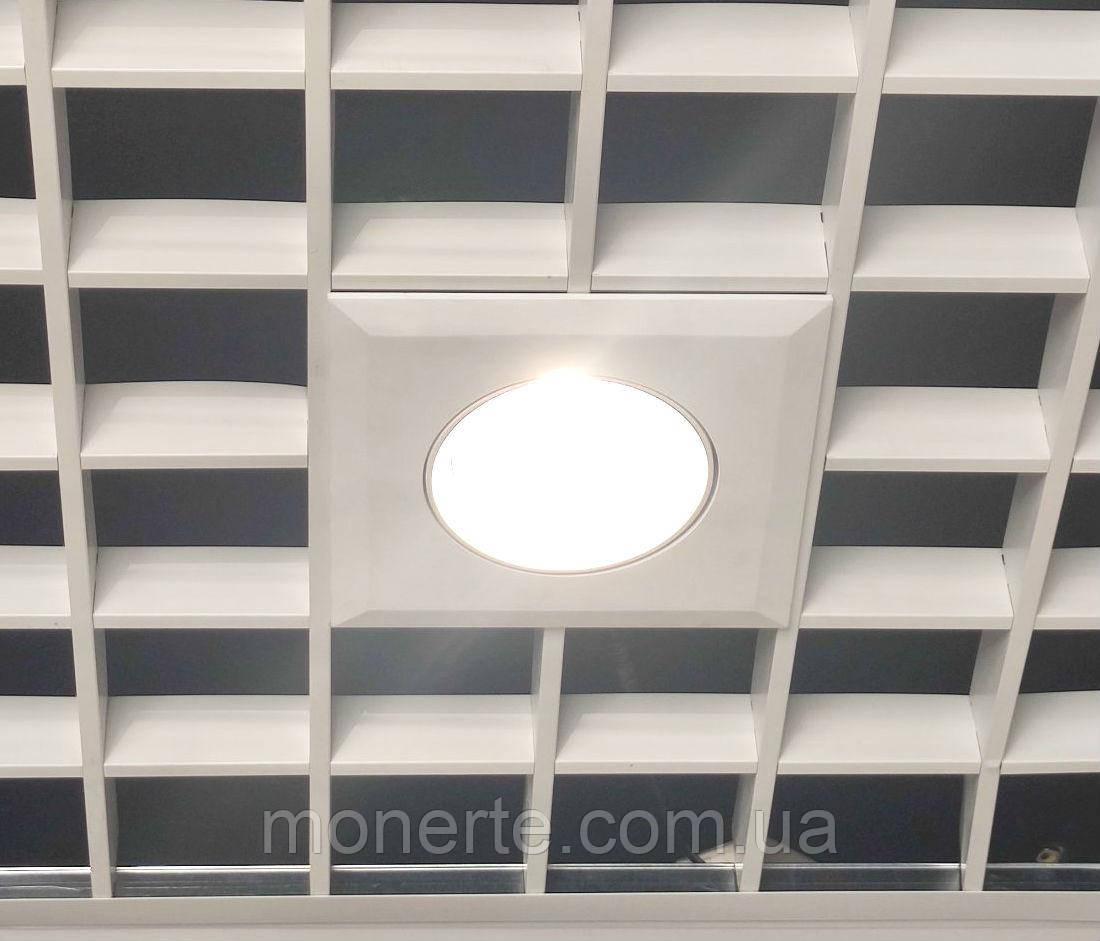 Поворотний LED світильник для підвісної стелі 30W downlight