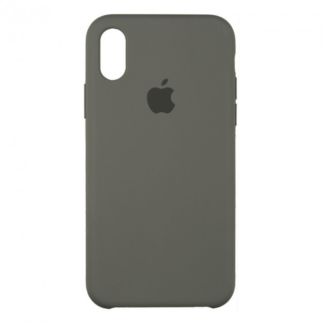 Чехол Silicone Case для iPhone X (Xs) Navi Gray