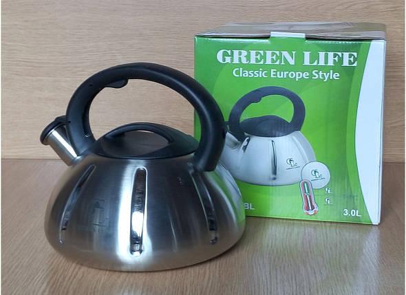 Чайник металический Green Life GL-5303 BL, фото 2
