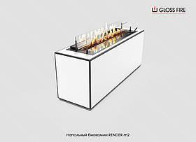 Напольный биокамин Render-m2 TM Gloss Fire (камин для квартиры, коттеджа, офиса, кафе, ресторана)