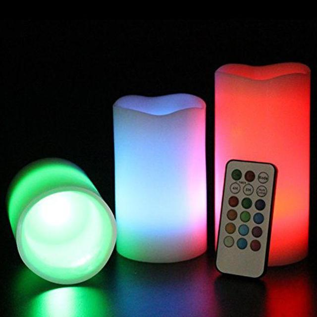 Набор светодиодных свечей с функцией выбора цвета (С пультом) LED СВЕЧИ LUMA CANDLES