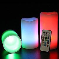 Набор светодиодных свечей с функцией выбора цвета (С пультом) LED СВЕЧИ LUMA CANDLES, фото 1