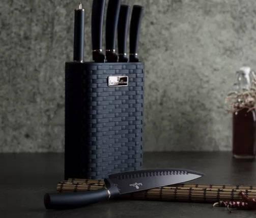 Набор ножей из нержавеющей стали 7 предметов Metallic Line Aquamarine Edition Berlinger Haus BH-2526, фото 2