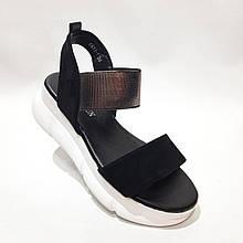 38,39,40 р Жіночі босоніжки, на товстій підошві сандалі жіночі чорні
