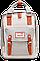 Женский городской рюкзак Doughnut Macaroon коралл Код 11-0098, фото 4