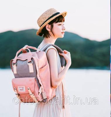 Женский городской рюкзак Doughnut Macaroon розовый Код 11-0020