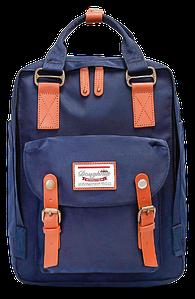 Женский городской рюкзак Doughnut Macaroon синий Код 10-6091
