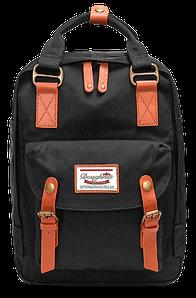 Женский городской рюкзак Doughnut Macaroon чёрный Код 10-6214
