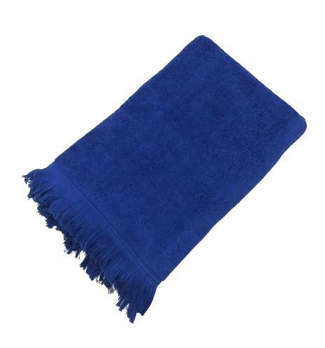Махровое полотенце uztex home 500 бахрома 70*140 см синий #S/H