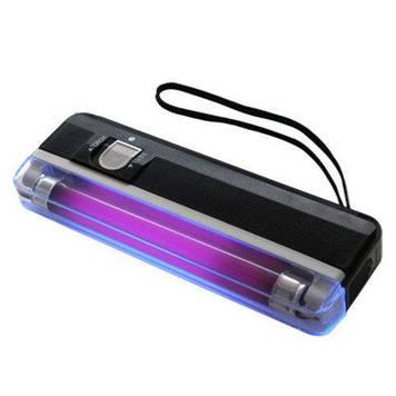 Компактный портативный карманный  ультрафиолетовый детектор валют на батарейках DL-01