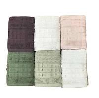 Набор махровых полотенец sikel жаккард elegan 70*140 6 шт #S/H