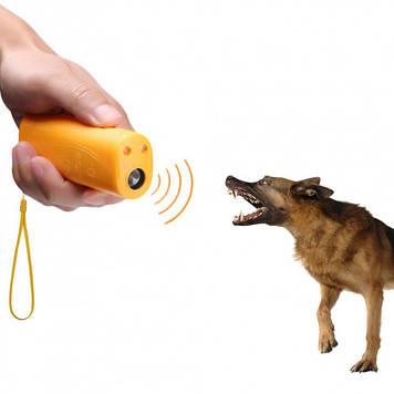 Ультразвуковой отпугиватель от собак с фонариком  AD-100