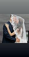 Фата свадебная кружевная для невесты