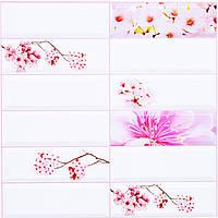 Стеновые декоративные пластиковые панели ПВХ Грейс (Grace) - плитка САКУРА (955x480) мм