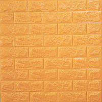 Самоклеющаяся декоративная 3D панель для стен под кирпич золото