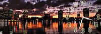 Часы настенные Ночной город (30х90 см) X 1, фото 1