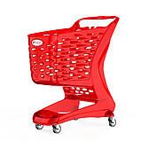 Покупательская тележка пластиковая RABTROLLEY Trolley 80L MINI Glamour, фото 2