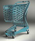 Покупательская тележка пластиковая RABTROLLEY Trolley 80L MINI Glamour, фото 6