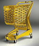 Покупательская тележка пластиковая RABTROLLEY Trolley 80L MINI Glamour, фото 8
