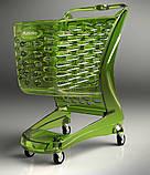 Покупательская тележка пластиковая RABTROLLEY Trolley 80L MINI Glamour, фото 5