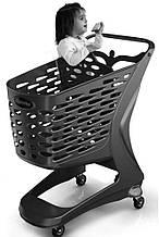 Купівельна візок для супермаркету RABTROLLEY Trolley 90L MINI ECO з дитячим сидінням