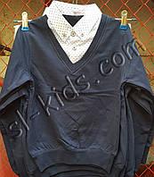 Джемпер обманка FIGO для хлопчика 116-134 см (темно синій) (пр. Туреччина)