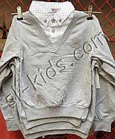 Джемпер обманка FIGO для мальчика 116-134 см (серый) (пр. Турция)