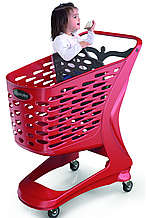 Купівельна візок пластикова RABTROLLEY Trolley 90L MINI Basic з дитячим сидінням