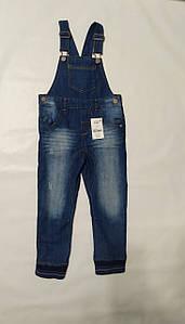 Джинсовые штаны-комбинезон синие Next р.104см