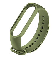 Силиконовый зелёный (Army green) ремешок на фитнес трекер Xiaomi mi band 5 браслет аксессуар замена