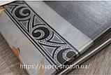 Скатерть силиконовая Gold Fashion 165x120 см золото серебро на обеденный стол нарядная прозрачная с рисунком, фото 3